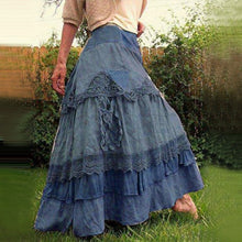 Load image into Gallery viewer, New Women's Stitching Lace-up Skirt