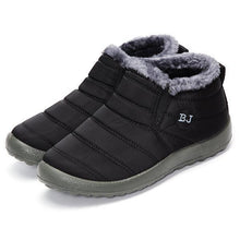 Load image into Gallery viewer, Letter Warm Fur Lining Flat Slip On Ankle Boots For Women