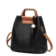 Load image into Gallery viewer, Stylish PU Leather Handbag Bucket Bag Shoulder Bags Crossbody Bags For Women