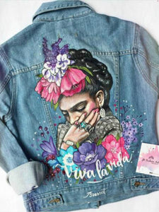 Fashion printed denim jacket