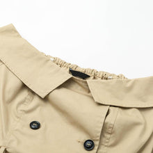 Load image into Gallery viewer, Solid Color Sexy Off Shoulder Belt Trench Coat