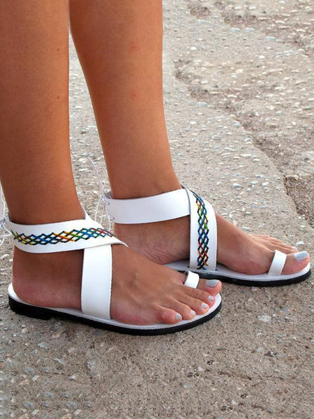 Open Toe Flat Sandals Beach Summer Shoes