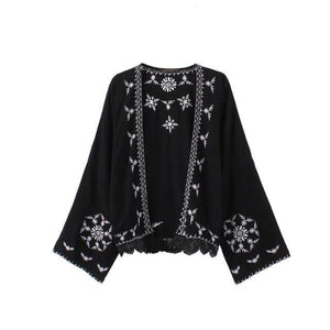 Summer Seaside Blouse Chiffon Cardigan Shawl Printing Coat Female
