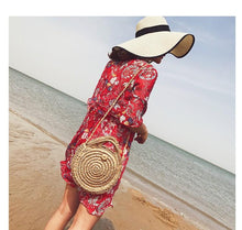 Load image into Gallery viewer, Beach Women s Shoulder Crossbody Round Holiday Weaving Bag