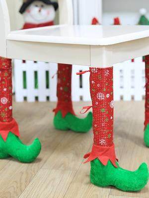 Christmas Chair Table Foot Cover Decoration