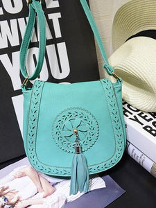 Bohemian Tassel PU Portable Diagonal Shoulder Small Bag