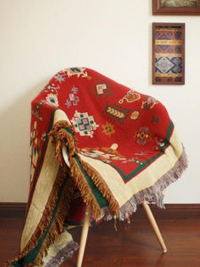 Bohemian Cotton Multi-functional Sofa Blanket Tapestry