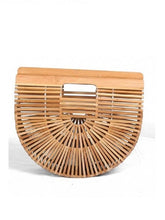 Load image into Gallery viewer, Clamshell Flip Holiday Bamboo Bag