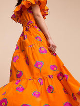 Load image into Gallery viewer, Off The Shoulder Ruffled Holiday High Waist Long Dress