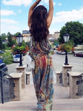 Load image into Gallery viewer, Halter Strapless Floral Bohemia Long Dress