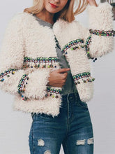 Load image into Gallery viewer, Winter Imitation Lamp Fur Tassel Short Coat Soft Jacket