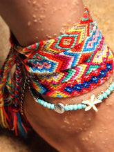 Load image into Gallery viewer, Double-layer Conch Starfish Beach Weaving Anklet Bracelet