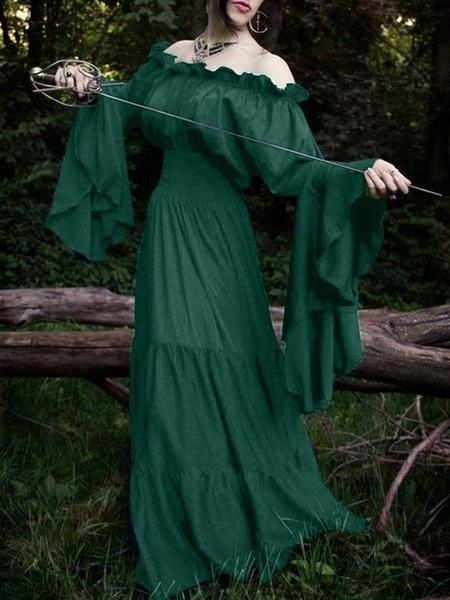 Halloween Long Sleeved Retro Middle Ages Dress