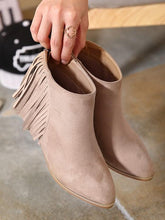 Load image into Gallery viewer, Thick Low Heel Tassel Ankle Short Boots