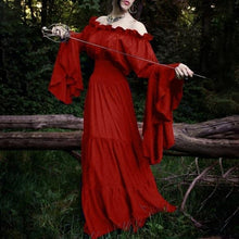 Load image into Gallery viewer, Halloween Long Sleeved Retro Middle Ages Dress