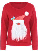 Load image into Gallery viewer, Fashion Round Neck Father Christmas Patterned Thicken Sweatshirt