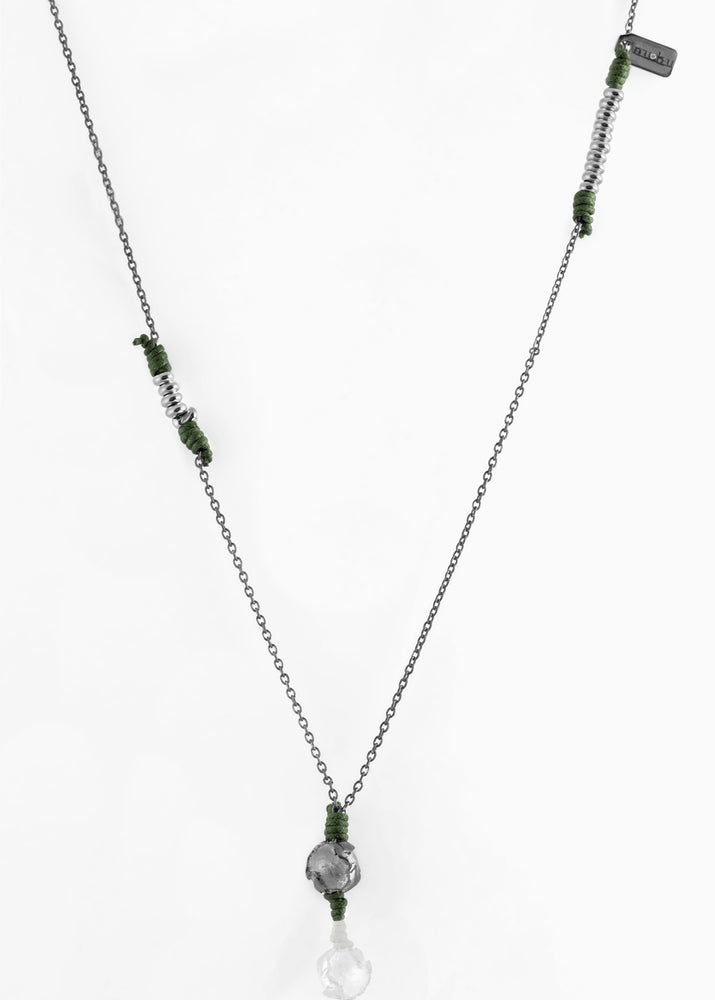 Collana Black Silver Greeny Deep 1.2 - Nubu-Jewels
