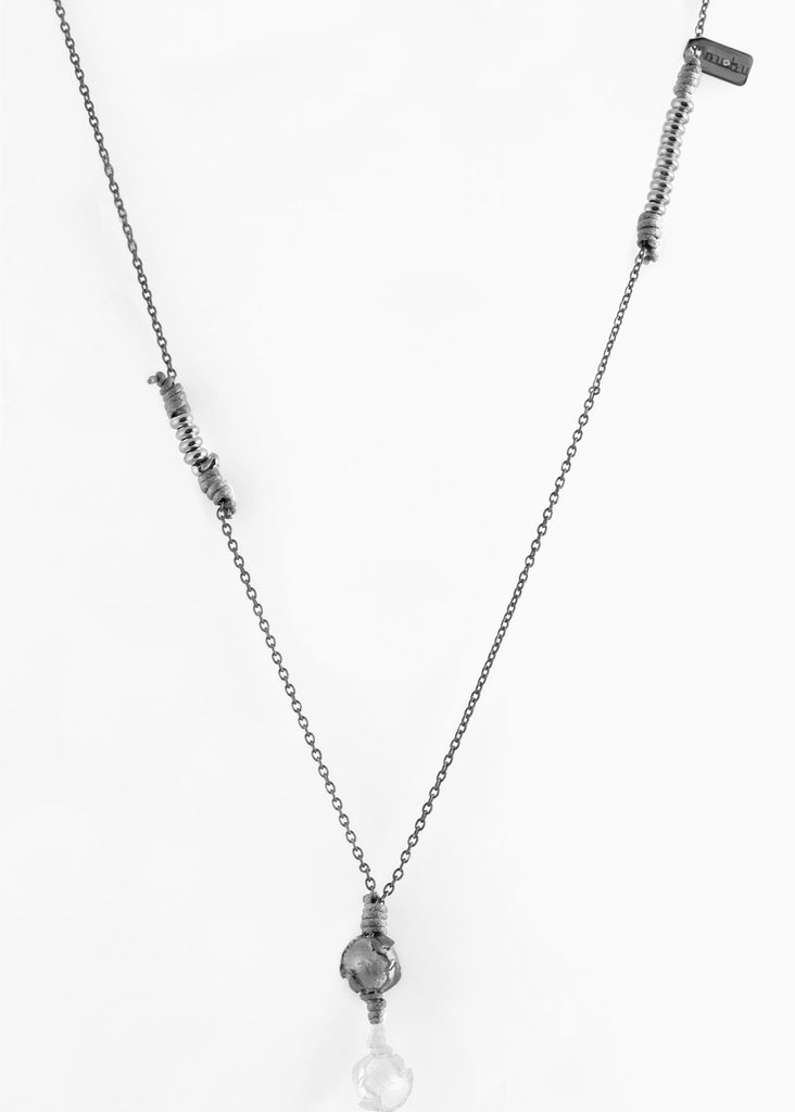 Collana Black Silver GreyIce 1.2 - Nubu-Jewels