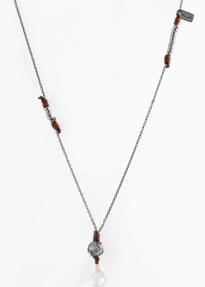 Collana Black Silver Terra di Siena 1.2 - nubu jewels · E-Store
