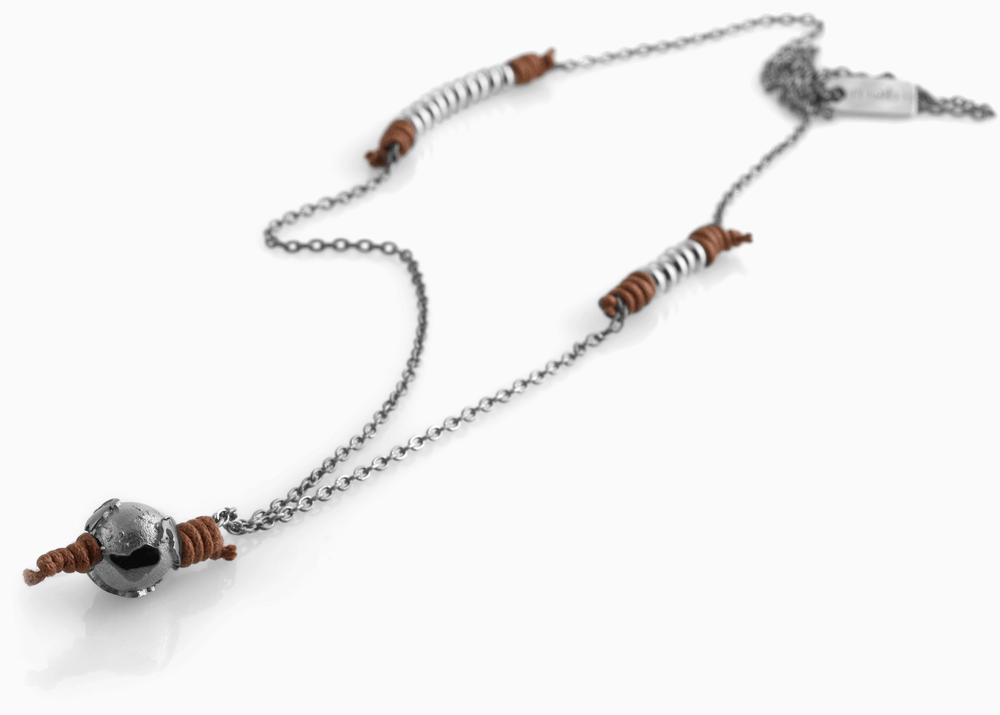 Collana Black Silver Terra di Siena 1.2 - Nubu-Jewels