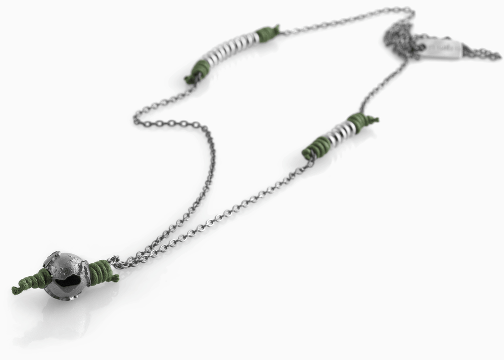 Collana Black Silver Greeny Deep 1.2