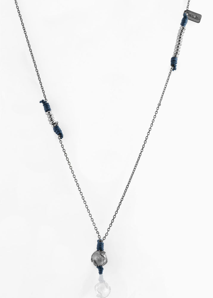 Collana Black Silver True Blue 1.2 - Nubu-Jewels
