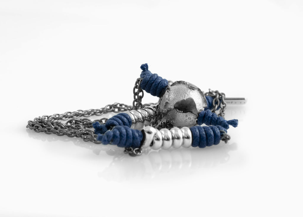 Collana Black Silver True Blue 1.2 - nubu jewels · E-Store