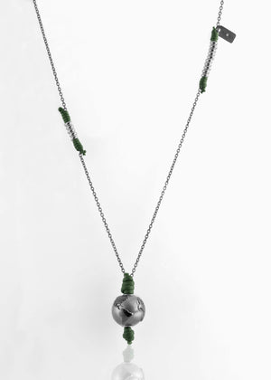Collana Black Silver Greeny Deep 2.0 - Nubu-store