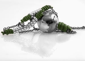 Collana Black Silver Greeny Deep 2.0 - Nubu-Jewels