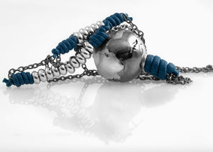 Collana Black Silver True Blue 2.0 - Nubu-Jewels