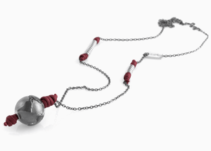 Collana Black Silver Bordeaux Matt 2.0 - Nubu-Jewels