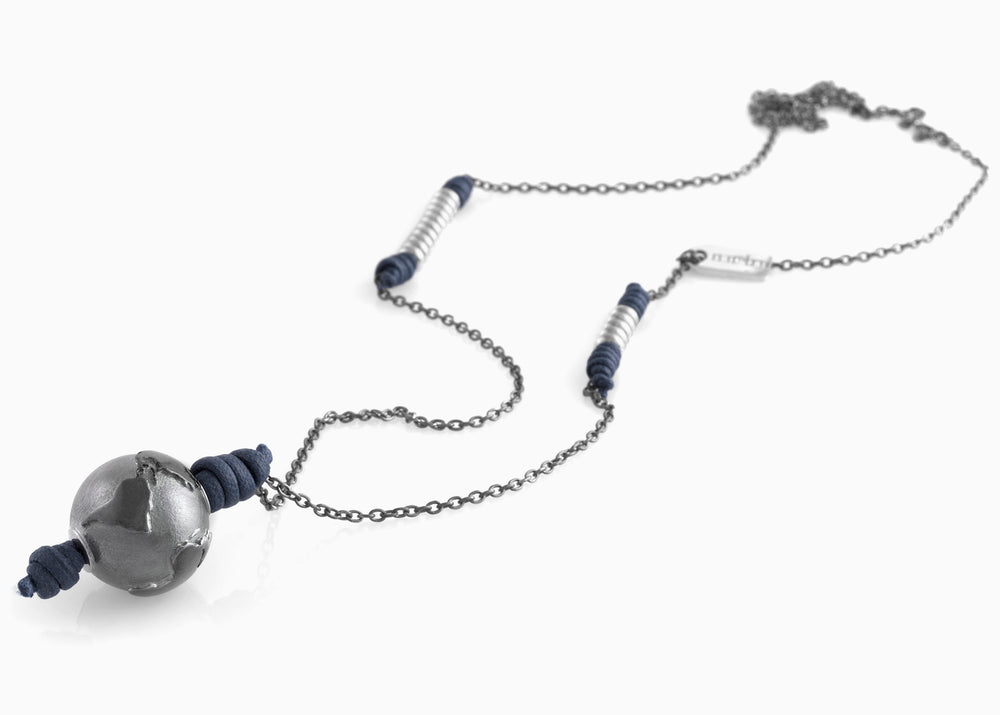 Collana Black Silver True Blue 2.0