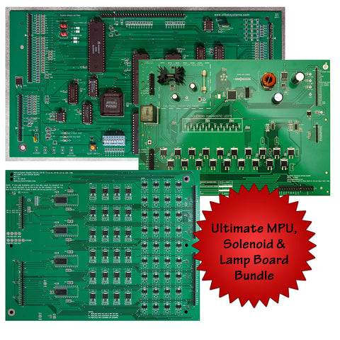 Ultimate MPU w/ Solenoid Driver & LED/Lamp Driver Bundle