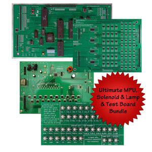 Ultimate MPU w/ Solenoid Driver, LED/Lamp Driver & Test Card Bundle