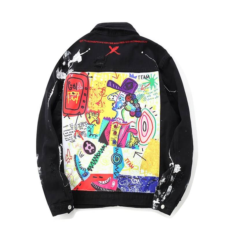 Picasso Graffiti Denim Jacket