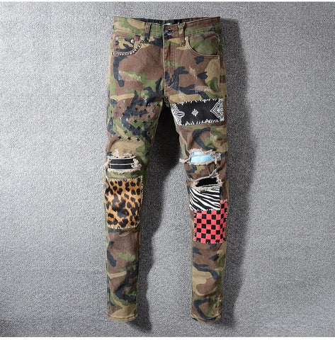 Camo Patchwork Jeans
