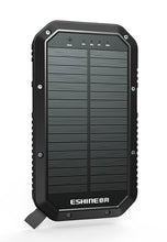 Load image into Gallery viewer, 20,000 mAh Portable Solar Battery with Wireless Charging and Lantern