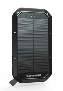 20,000 mAh Portable Solar Battery with Wireless Charging and Lantern