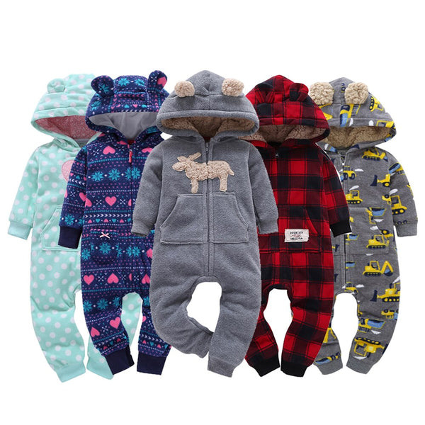 Warm Hooded Rompers