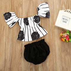 Striped Flower Set