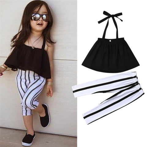 Striped Pants Set