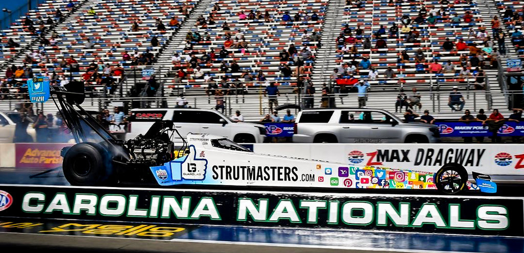 Justin Ashley makes NHRA Top Fuel Dragster debut at Charlotte Motor Speedway for the NTK Carolina Nationals