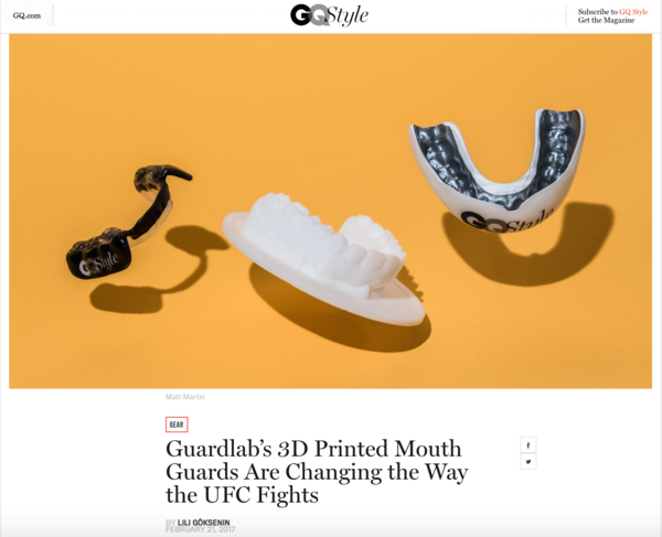 Guardlab's 3D Printed Mouth Guards Are Changing the Way the UFC Fights. Photo Matt Martin. Article by Lili Goksenin