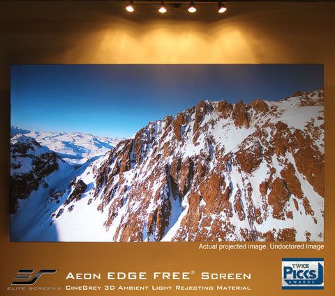 Elite Screens Aeon CineGrey 3D Series ALR Fixed Frame Projector Screen 110 inch 16:9