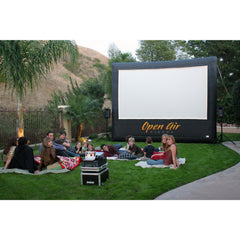 Open Air Cinema CineBox Event Pro 16:9 12' - 20' Outdoor Theater Screen System Bundle Package