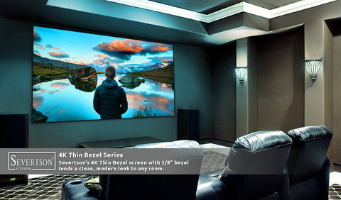 "Fixed Frame Projection Screen 4K Thin Bezel Series [16:9] 92""- 220"""