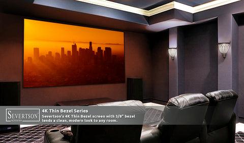 "Fixed Frame Projection Screen 4K Thin Bezel Series [2:35:1] 113""- 189"""