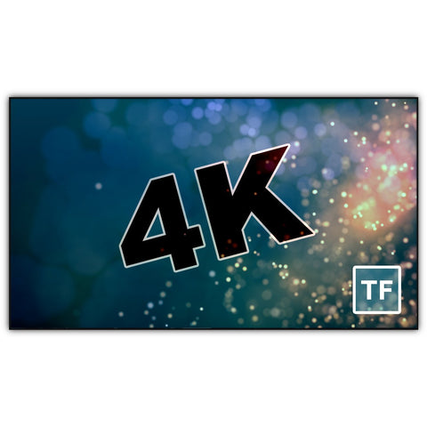 4K Thin Bezel Series, tf Screens from Severtson Screens are an excellent addition to any home theater, venue, conference room, or other location that needs a modern, high-performance projection screen.
