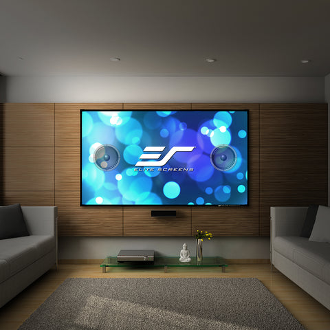 Elite Screens Aeon AUHD Series Fixed Frame Edge Free Projector Screen 135 inch 16:9