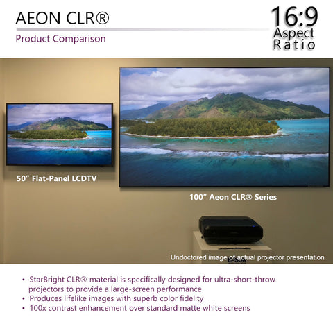 Elite Screens Aeon CLR Series Ambient Light Rejecting Fixed Projector Screen 120 inch 16:9